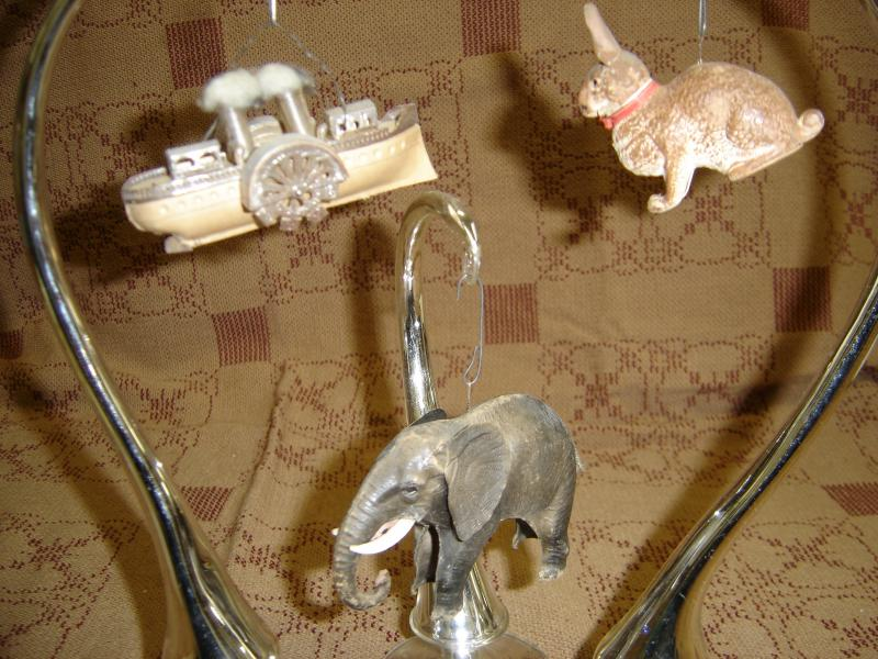 Dresden ornaments from Elves Antiques