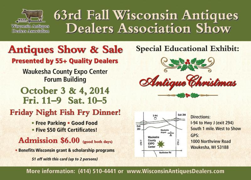 Wisconsin Antiques Dealers Association Fall Show, 2014