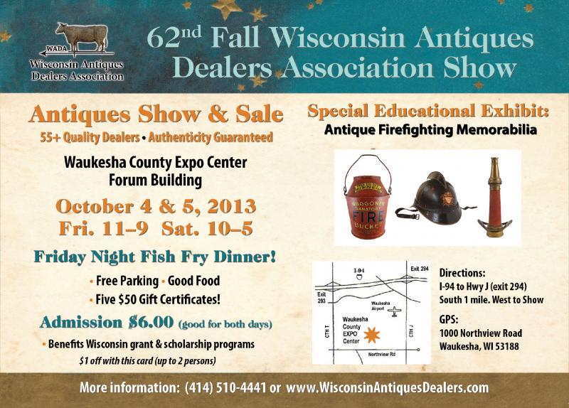 Details, 62nd Fall Wisconsin Antiques Dealers Association Show